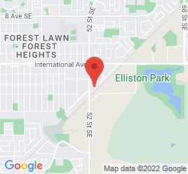 Google Map of 5317+21A+Avenue+S.E%2CCalgary%2CAlberta+T2B+2E9